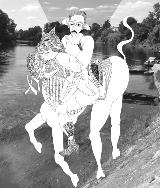 002_cavaliere nel fiume Iphoto NB 180